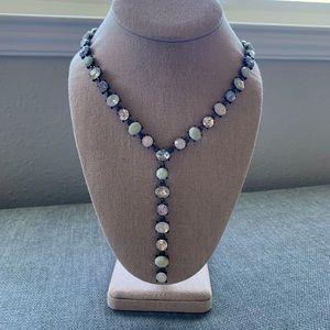 "Crystal ""Y"" Statement Necklace"